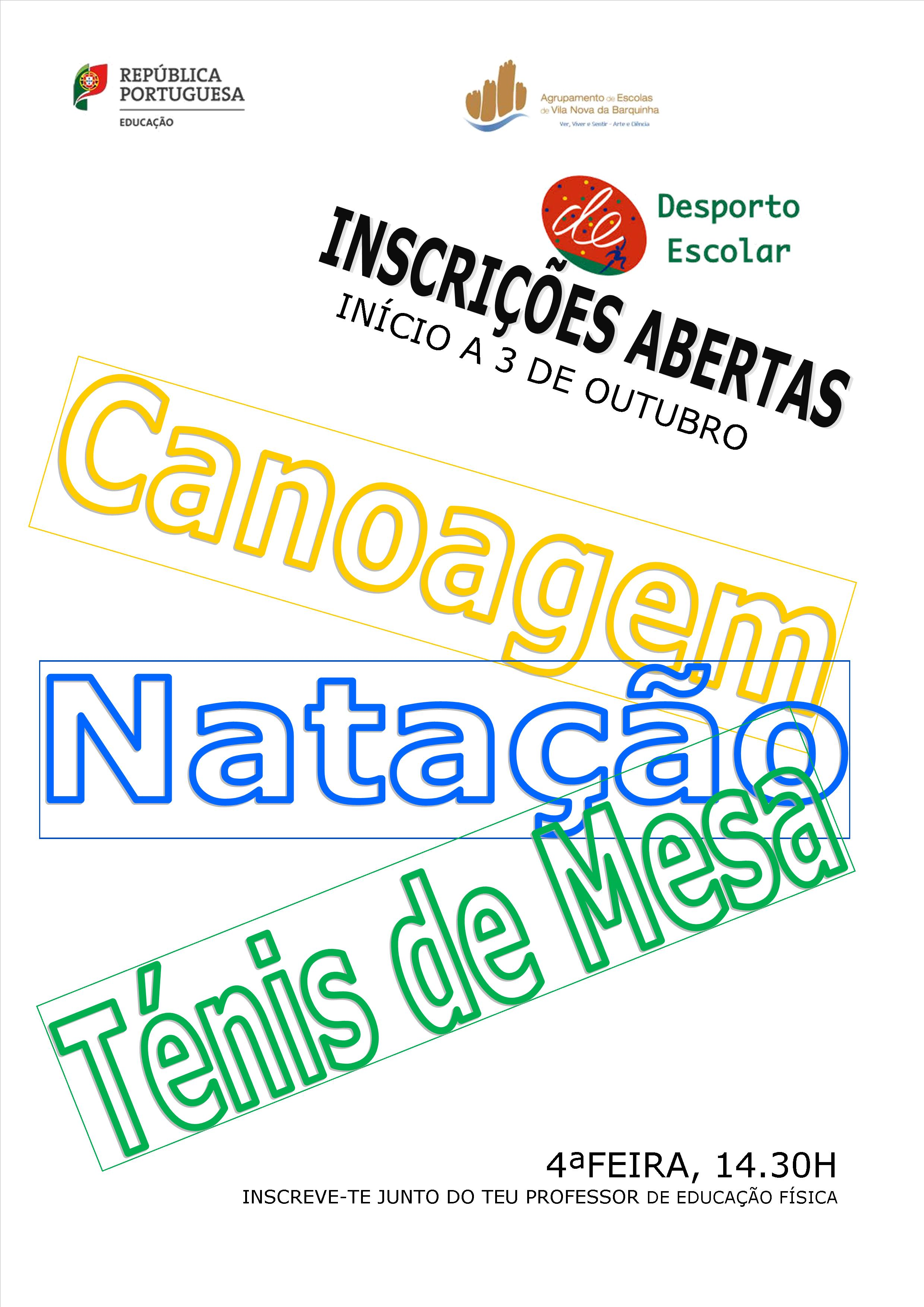 cartaz desporto escolar